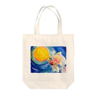 金魚と少年 Tote bags