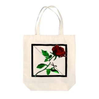 切り華 バラバラになるバラ Tote bags