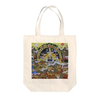 藤原先生 曼荼羅  Tote bags