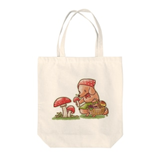 きのこ狩りダックス Tote bags