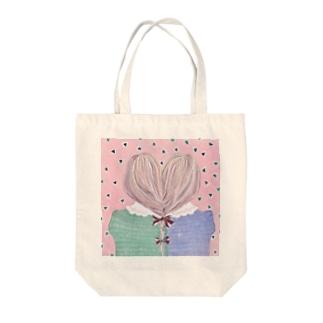 三つ編み Tote bags