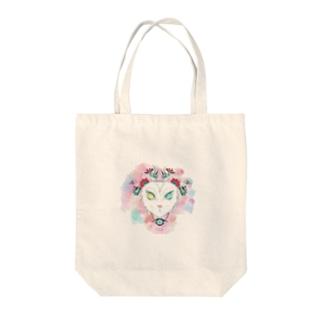 ミスタリーヴァン猫 Tote bags