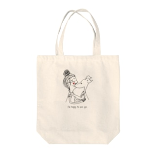ARATA HOUSE GOODSのI'm happy to see you. Tote bags