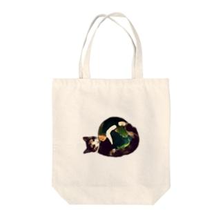 三毛猫の地球(猫キックver) Tote bags