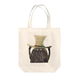 ぼうしおばけ Tote bags
