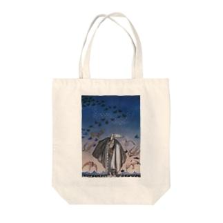 カイ・ニールセン《魔法の笛を吹く若い兵士と集まる鳥の群れ》 Tote Bag