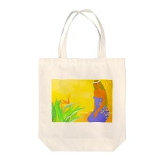 極楽鳥花と共に Tote bags