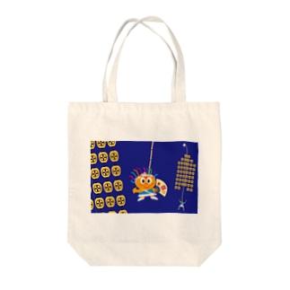 クレコちゃんのお祭りの夜 Tote bags