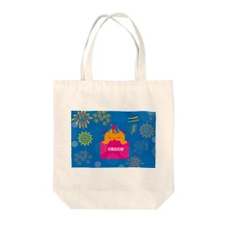 クレコちゃんの花火の夜の夢 Tote bags