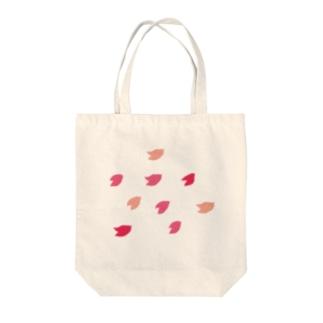 桜と鳥 Tote bags
