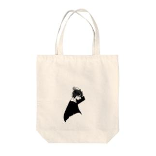 モノクロの男の子 Tote bags
