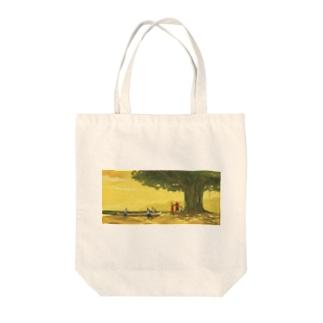 午後のパドリング Tote bags