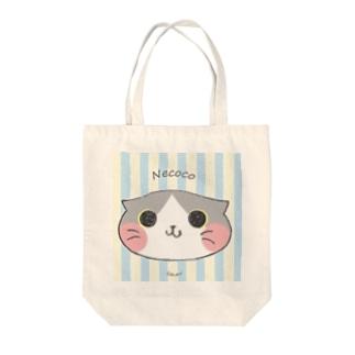 ねここ(すこてぃっしゅ) 猫 Tote bags