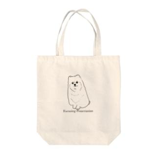 「じごくトニック」グッズショップの集中ポメラニアントートバッグ Tote bags