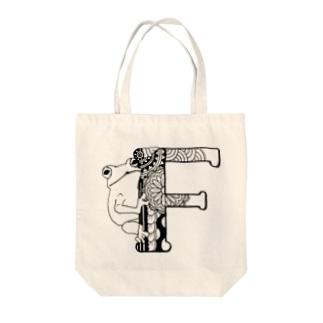 【alphanimal】F:frog Tote bags