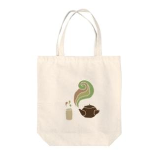 お茶 Tote bags