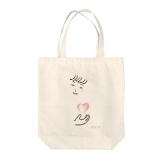 こころ Tote bags