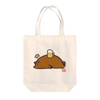 デブ猫ニャポポさん(へそ天BEER) Tote bags