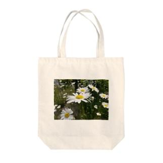 白い花 Tote bags