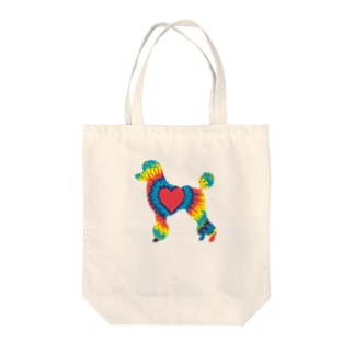 タイダイプードル Tote bags