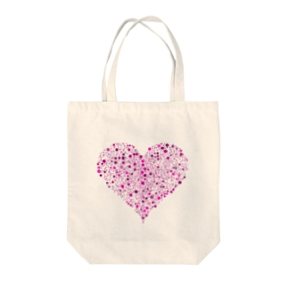 Dots Heart(Pink) Tote bags