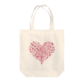 Dots Heart(Red) Tote bags