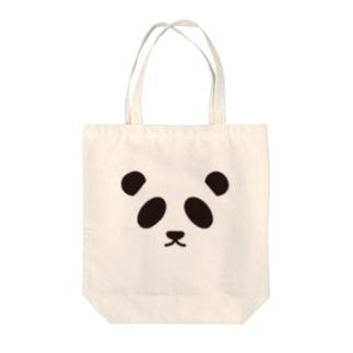 パンダ-animal up-アニマルアップ- Tote bags