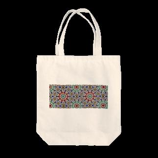 Trip Birdのモロッコのタイル1 Tote bags