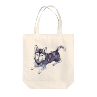 DOG STUDIOのシベリアンハスキー Tote bags