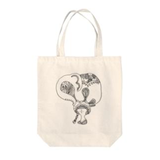 ゾウのガール Tote bags