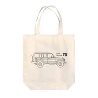 ランドクルーザー70のイラスト Tote Bag