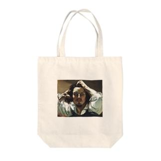 ギュスターヴ・クールベ「絶望」 グッズ Tote bags