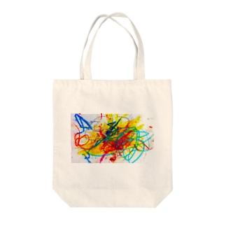 2歳の息子がクレヨンで描いた絵 Tote bags