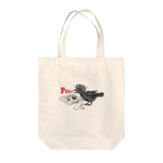 カラスのファンク! Tote bags