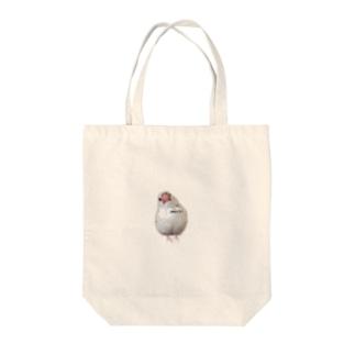 白文鳥のおもち Tote bags