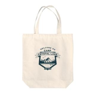 CAMP CRYSTAL LAKE Tote bags