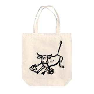 荒ぶる雄牛(Snorting Bull) Tote bags