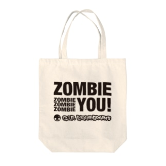 Zombie You! (black print) トートバッグ