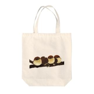 ふくら雀 Tote bags