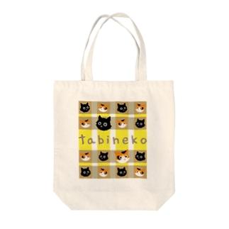 たびねこ -かおチェック Tote bags