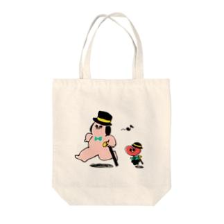 どうぶつマン(紳士) Tote bags