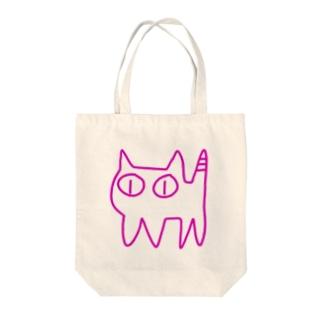 ねこですから。ピンク Tote bags