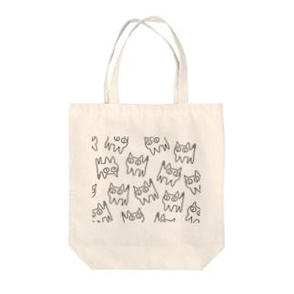 ねこですから。総柄 Tote bags