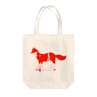 赤い狐 トートバッグ