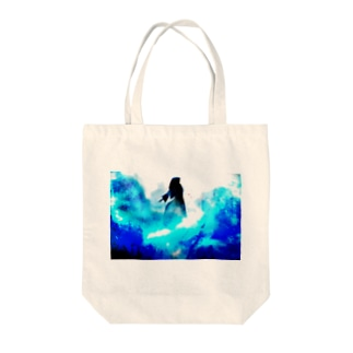 Going Above Tote bags