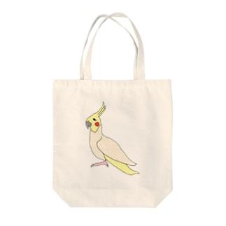 オカメインコのOKAME!! Tote bags