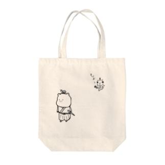 くま侍 ちょんまげ編 Tote bags