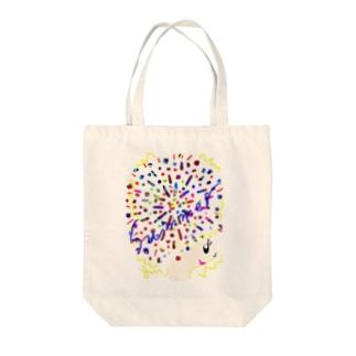 アフロちゃん花火 Tote bags