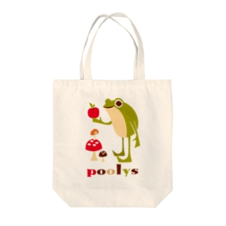 poolys with apple Tote bags