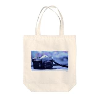 カメラ Tote bags
